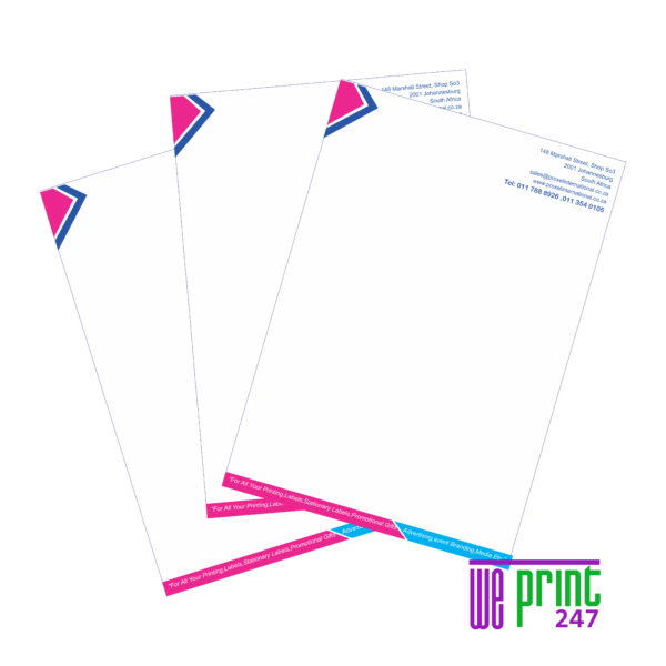 letterhead printing johannesburg